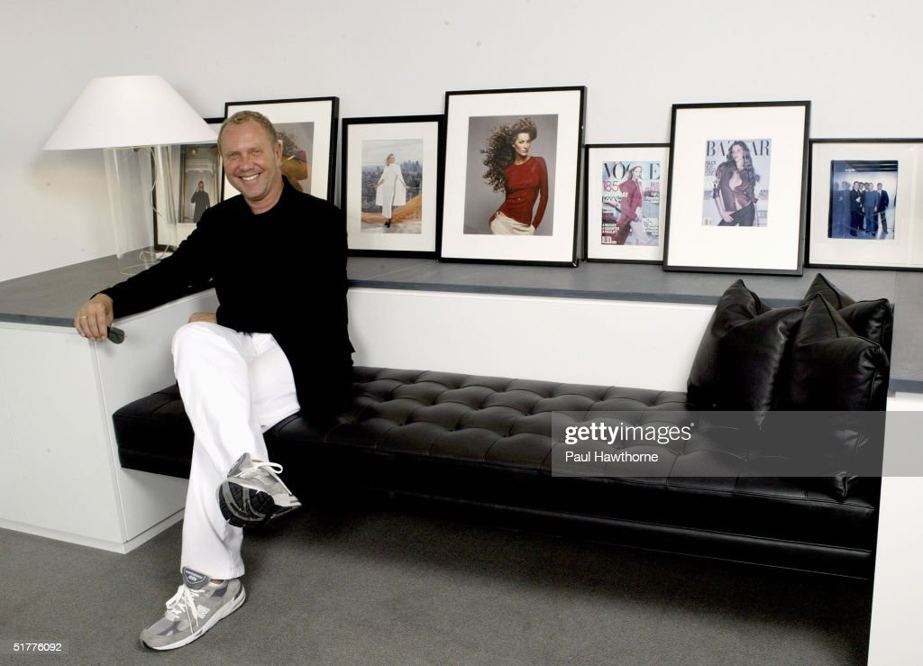 Fashion designer Michael Kors poses for a portrait in his Manhattan office August 19, 2004 in New York City.