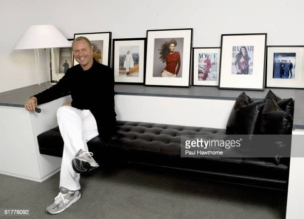 Fashion designer Michael Kors poses for a portrait in his Manhattan office August 19 2004 in New York City