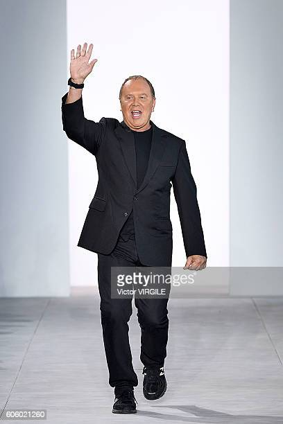 Fashion designer Michael Kors walks the runway at Michael Kors show during New York Fashion Week on September 14 2016 in New York City