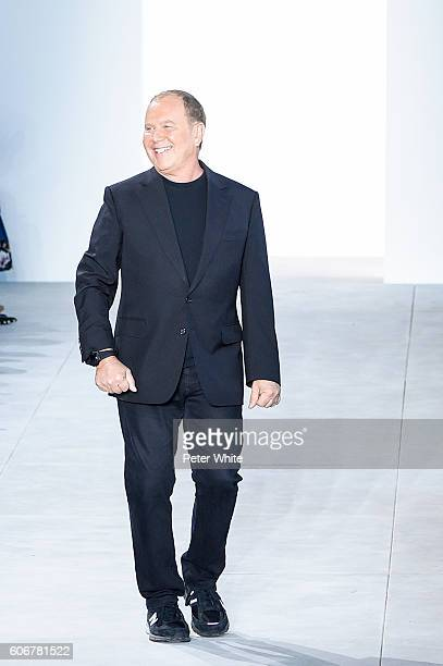Fashion designer Michael Kors walks the runway at Michael Kors show during New York Fashion Week at Spring Studios on September 14 2016 in New York...