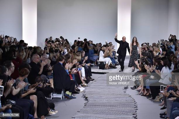 Fashion designer Michael Kors walks the runway at the Michael Kors Ready to Wear Spring/Summer 2018 fashion show during New York Fashion Week on...