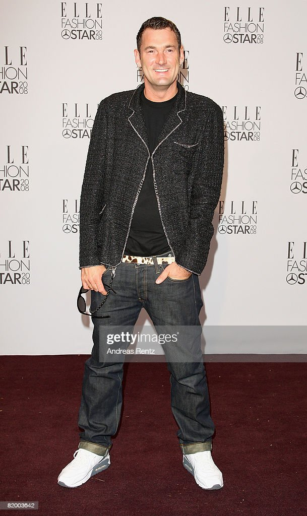 Fashion designer Michael Michalsky arrives at the ELLE Fashion Star award ceremony during Mercedes Benz Fashion week Spring/Summer 2009 at the Tempodrom on July 19, 2008 in Berlin, Germany.