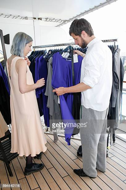 Fashion designer Michael Sontag during the Fashion2Night event at EUROPA 2 on August 23 2016 in Hamburg Germany