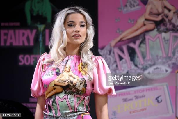 Fashion designer Mimi Wade at the Mimi Wade Presentation during London Fashion Week September 2019 on September 17 2019 in London England