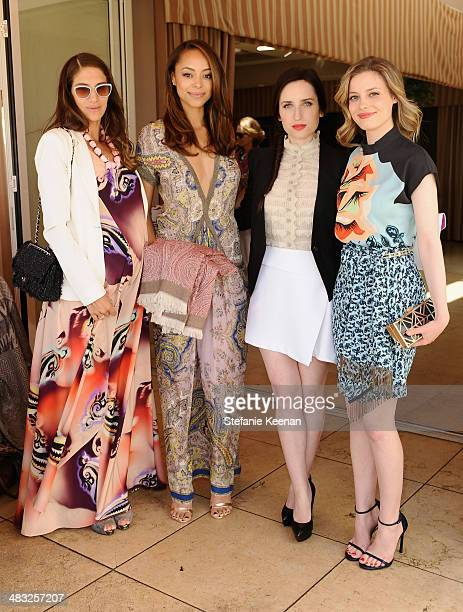 Fashion designer Minnie Mortimer actresses Amber Stevens Zoe ListerJones and Gillian Jacobs attend Vogue Lunch In Celebration Of The Etro Spring...