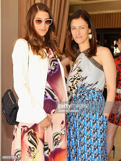 Fashion designer Minnie Mortimer and Creative Digital Director of Vogue Sally Singer attend Vogue Lunch In Celebration Of The Etro Spring Collection...