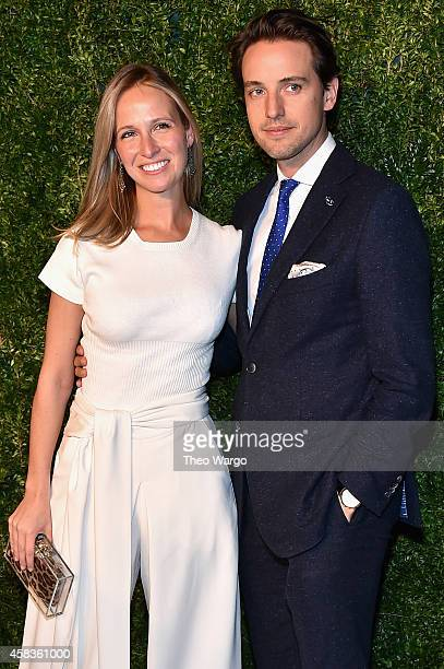 Fashion designer Misha Nonoo and Alexander Gilkes attend the 11th annual CFDA/Vogue Fashion Fund Awards at Spring Studios on November 3 2014 in New...
