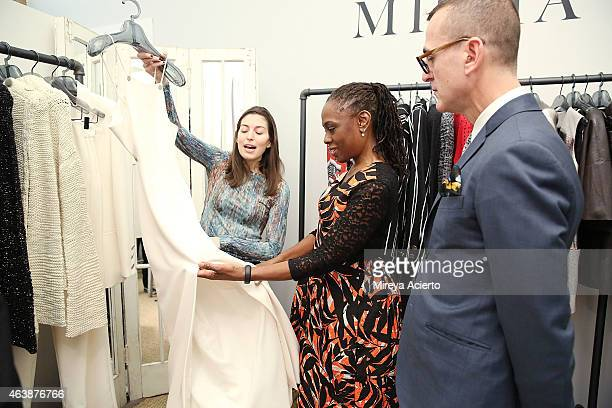 Fashion designer Misha Nonoo First Lady of New York City Chirlane McCray and Chief Executive Office of CFDA Steven Kolb attend CFDA {Fashion...
