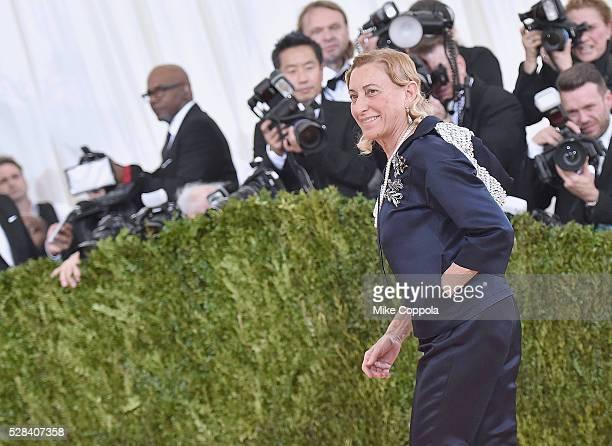 "Fashion Designer Miuccia Prada attends the ""Manus x Machina: Fashion In An Age Of Technology"" Costume Institute Gala at Metropolitan Museum of Art on..."