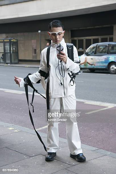 Fashion Designer Morrissey wears all his own design clothing day 1 of London Mens Fashion Week Autumn/Winterr 2017 on January 06 2017 in London...