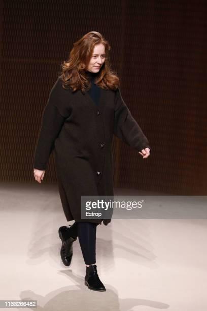 Fashion designer Nadège Vanhee-Cybulski at the Hermes show at Paris Fashion Week Autumn/Winter 2019/20 on March 2, 2019 in Paris, France.