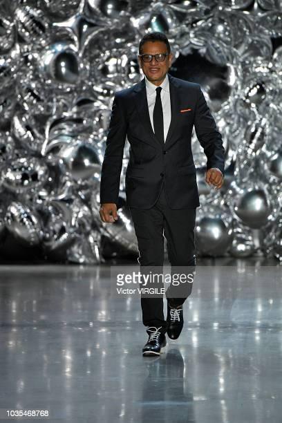 Fashion designer Naeem Khan walks the runway at the Naeem Khan Ready to Wear Spring/Summer 2019 fashion show during New York Fashion Week on...
