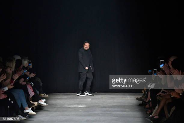 Fashion designer Narciso Rodriguez walks the runway for the Narciso Rodriguez Fall Winter 20172018 Ready to Wear fashion show during New York Fashion...