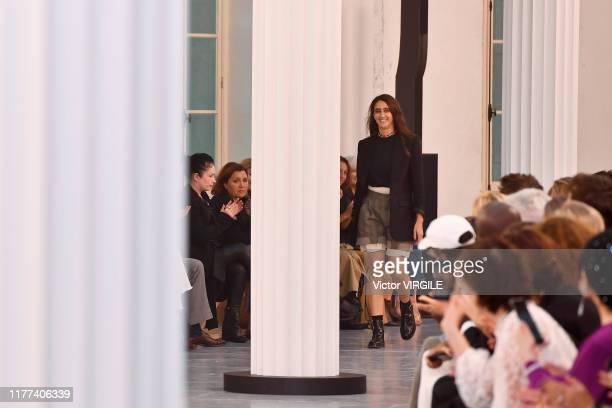 Fashion designer Natacha Ramsay-Levi walks the runway during the Chloe Ready to Wear Spring/Summer 2020 fashion show as part of Paris Fashion Week on...