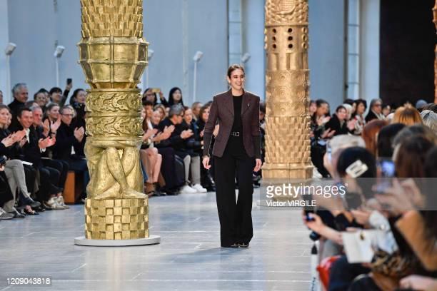 Fashion designer Natacha Ramsay-Levi walks the runway during the Chloe Ready to Wear fashion show as part of the Paris Fashion Week Womenswear...