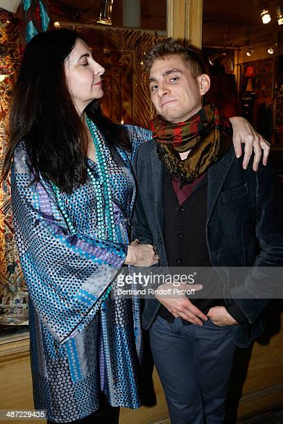 Fashion designer Nathalie Garcon and her son Hugo Stavritch attend the 'Charriol' Ephemeral Boutique opening hosted by Nathalie Garcon at Nathalie...