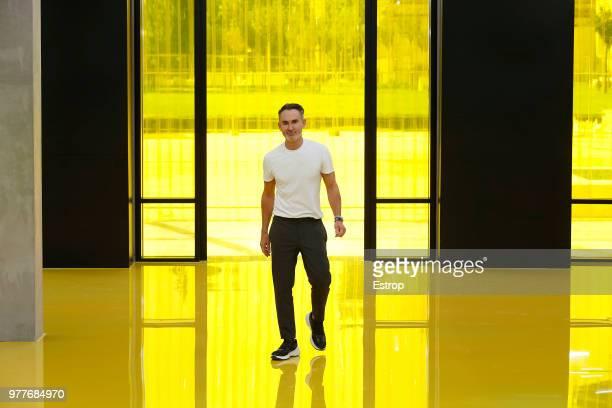 Fashion designer Neil Barrett at the Neil Barrett show during Milan Men's Fashion Week Spring/Summer 2019 on June 16 2018 in Milan Italy
