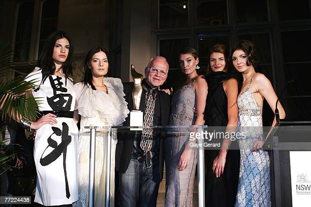 Fashion Designer Nicholas Huxley and RAFW Models attend the launch of the Australian Fashion Laureate award ahead of the start of Rosemount...
