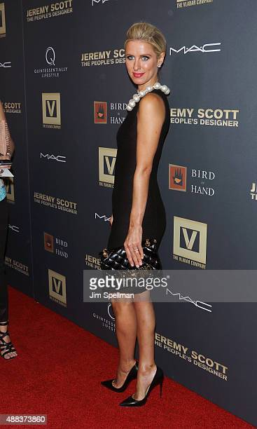 Fashion designer Nicky Hilton attends the 'Jeremy Scott The People's Designer' New York premiere at The Paris Theatre on September 15 2015 in New...