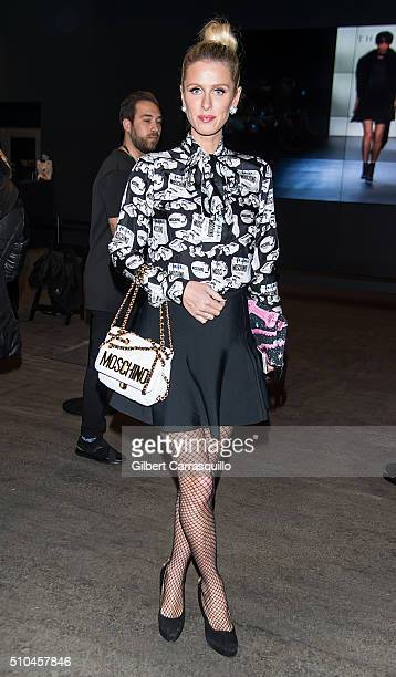 Fashion Designer Nicky Hilton is seen outside the Jeremy Scott Fall 2016 fashion show during New York Fashion Week The Shows at The Arc Skylight at...