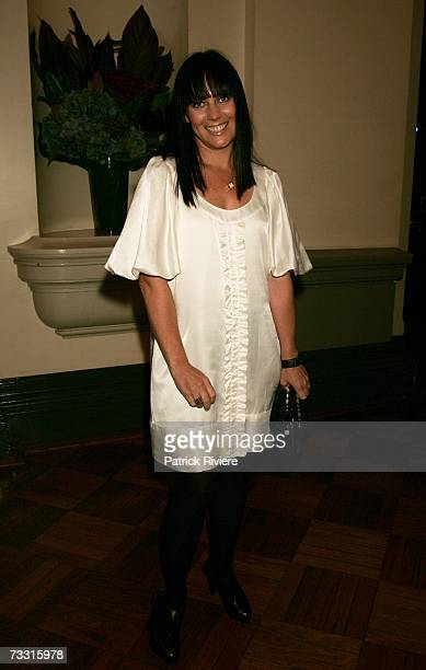 Fashion designer Nicky Zimmermann arrives at the David Jones Autumn/Winter Collection launch show at Town Hall on February 13, 2007 in Sydney,...