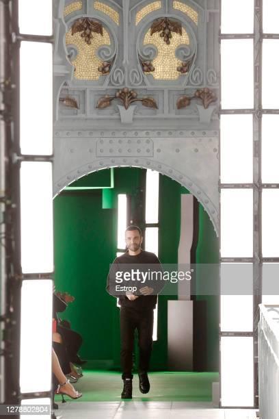Fashion designer Nicolas Ghesquière during the Louis Vuitton fashion show during Paris Women's Fashion Week Spring/Summer 2021 on October 6 2020 at...