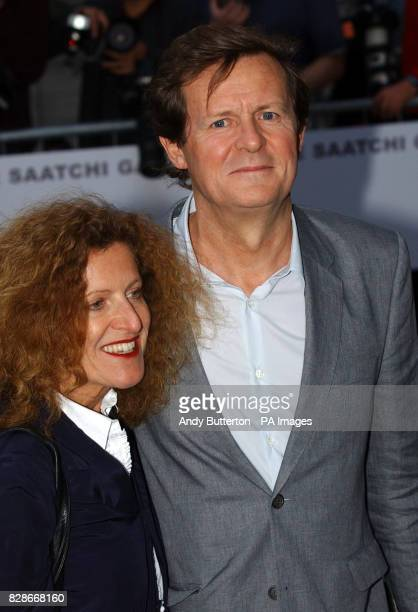 Fashion designer Nicole Farhi and scriptwriter David Hare arriving at a party to celebrate the opening of the Saatchi Gallery in London The gallery...