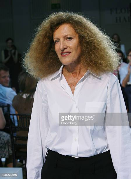 Fashion designer Nicole Farhi walks up the catwalk following the showing of her 2007 spring/summer collection in London UK Thursday September 21 2006...