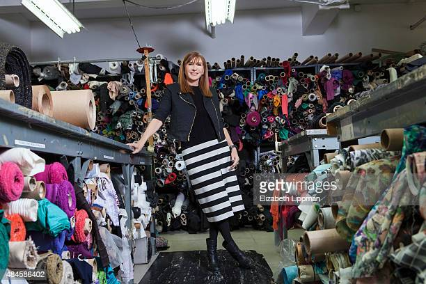 Fashion designer Nicole Miller is photographed for Wall Street Journal on March 8, 2015 in New York City. PUBLISHED IMAGE
