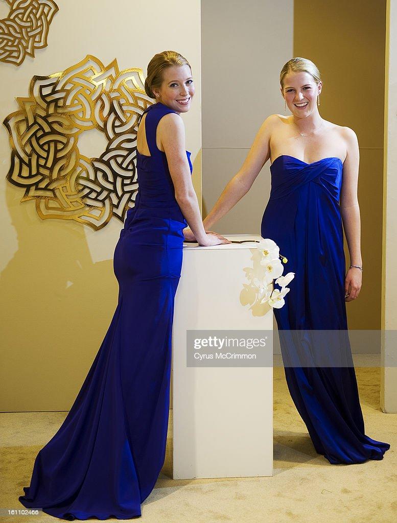 Fashion designer Nicole Miller showcased girls prom dresses at Saks ...