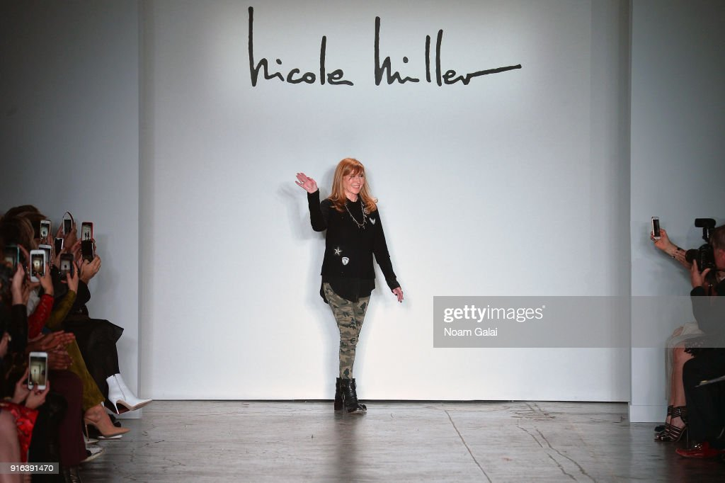 Fashion designer Nicole Miller walks the runway during Mary Kary at Nicole Miller Fall 2018 at Industria Studios on February 9, 2018 in New York City.