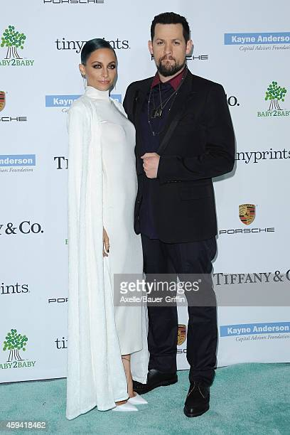 Fashion designer Nicole Richie and Joel Madden arrive at the 2014 Baby2Baby Gala presented by Tiffany & Co. Honoring Kate Hudson at The Book Bindery...