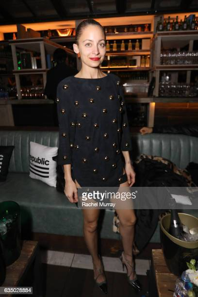 Fashion designer Nicole Richie at a celebration of music with Republic Records in partnership with Absolut and Pryma at Catch LA on February 12 2017...