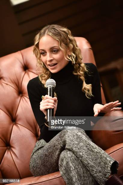 Fashion designer Nicole Richie attends author Cleo Wade's discussion and book signing of their new book 'Heart Talk' at Barnes Noble at The Grove on...