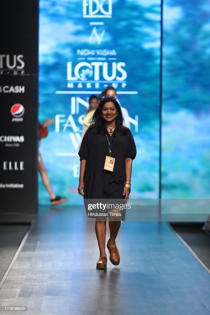 Fashion Designer Nidhi Yasha During Her Show On The First Day Of The News Photo Getty Images