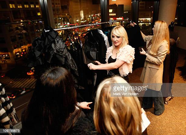 Fashion Designer Nikki Lund attends a WTB Apparel Preview in the MSG Green Room before the Bon Jovi Concert hosted by Nikki Lund Richie Sambora at...