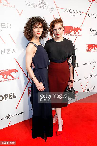 Fashion Designer Nobieh Talaei and german actress Jella Haase attend New Faces Award Style on November 16 2016 in Berlin Germany