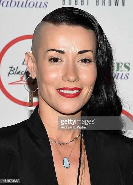 Fashion designer Norisol Ferrari attends the Salute The Runway fashion show sponsored by Little Black Dress Wines Fatigues To Fabulous during...
