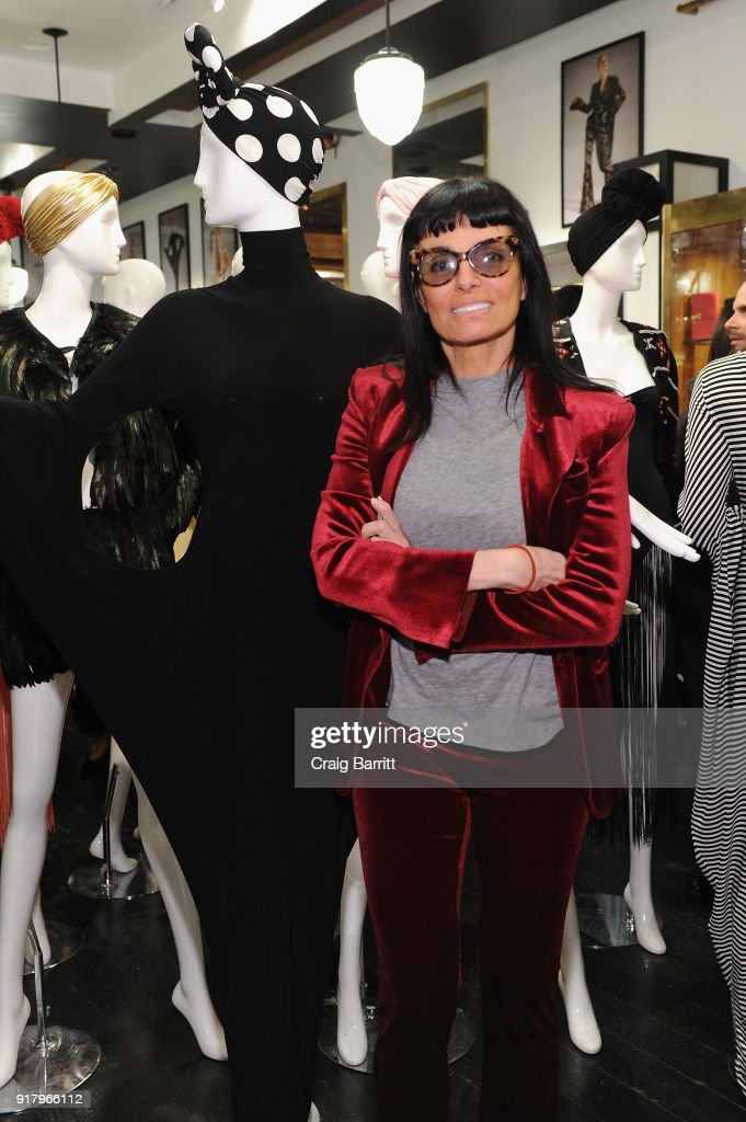 Fashion designer Norma Kamali attends Vintage For The Future: A Norma Kamali Retrospective by What Goes Around Comes Around on February 13, 2018 in New York City.