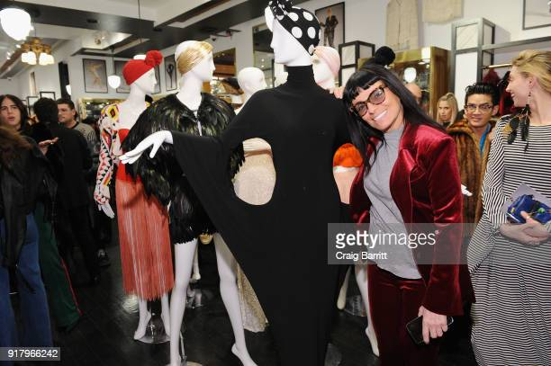 Fashion designer Norma Kamali attends Vintage For The Future A Norma Kamali Retrospective by What Goes Around Comes Around on February 13 2018 in New...