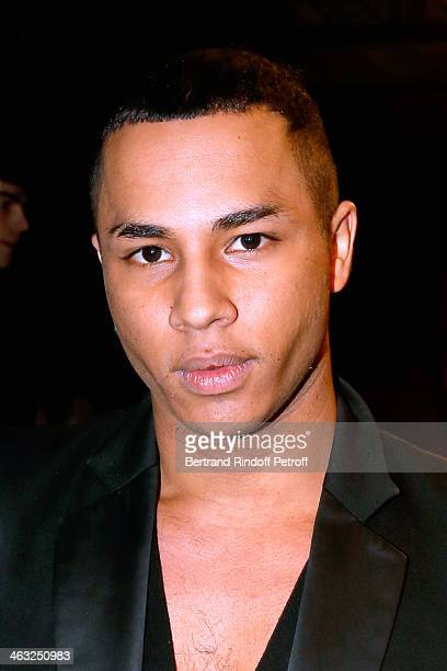 Fashion designer of Balmain Olivier Rousteing attends the Krisvanassche Menswear Fall/Winter 20142015 Show as part of Paris Fashion Week on January...