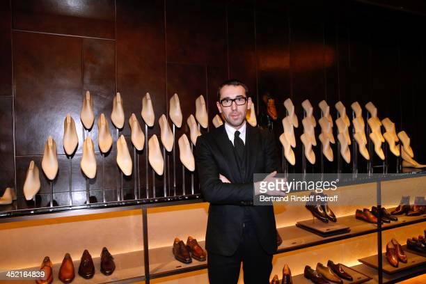 Fashion designer of Berluti Alessandro Sartori attends Berluti Flagship Store Opening on November 26 2013 in Paris France