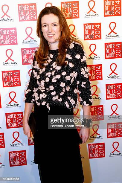 Fashion designer of Chloe Clare Waight Keller attends the Sidaction Gala Dinner 2014 at Pavillon d'Armenonville on January 23 2014 in Paris France