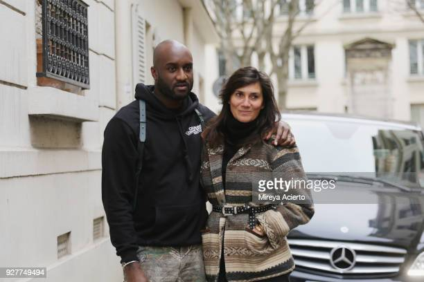 Fashion designer of OFFWHITE Virgil Abloh and editorinchief of Vogue Paris Emmanuelle Alt seen during Paris Fashion Week Womenswear Fall/Winter...