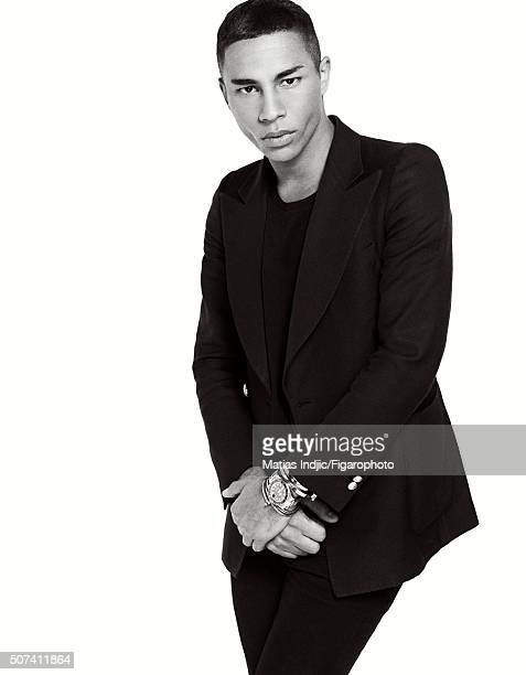 Fashion designer Olivier Rousteing is photographed for Madame Figaro on October 1 2015 in Paris France All personal jewelry PUBLISHED IMAGE CREDIT...