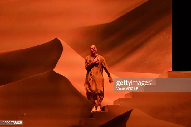 Fashion designer Olivier Rousteing walks the runway during the Balmain Menswear Fall/Winter 2020-2021 show as part of Paris Fashion Week on January...