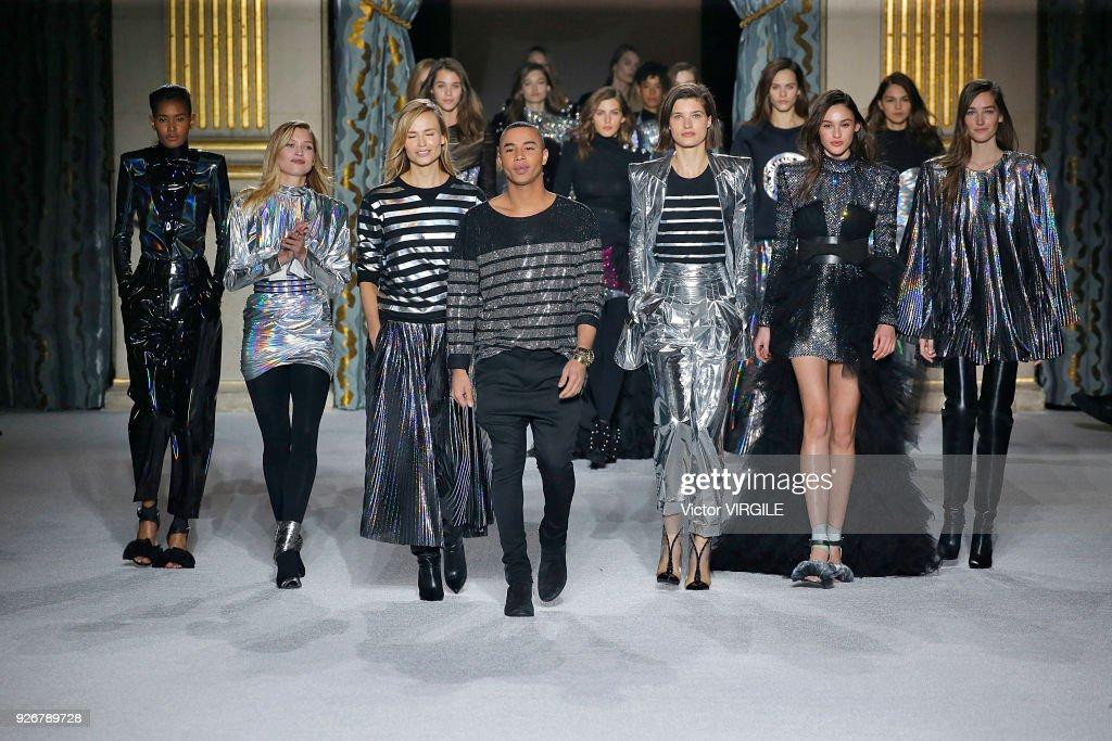 Balmain : Runway - Paris Fashion Week Womenswear Fall/Winter 2018/2019 : News Photo