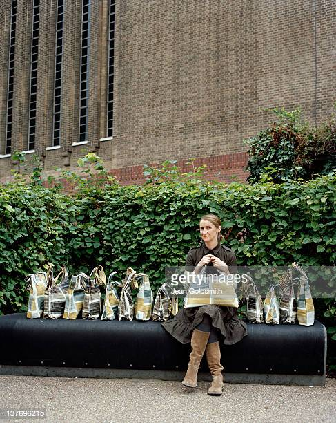 Fashion designer Orla Kiely is photographed for the Independent on September 2 2008 in London England