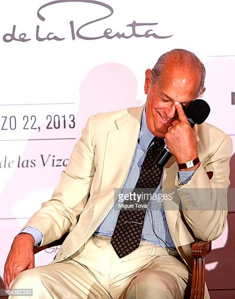 Fashion designer Oscar de la Renta during the nextel fashion show press conference on March 22 2013 in Mexico City Mexico