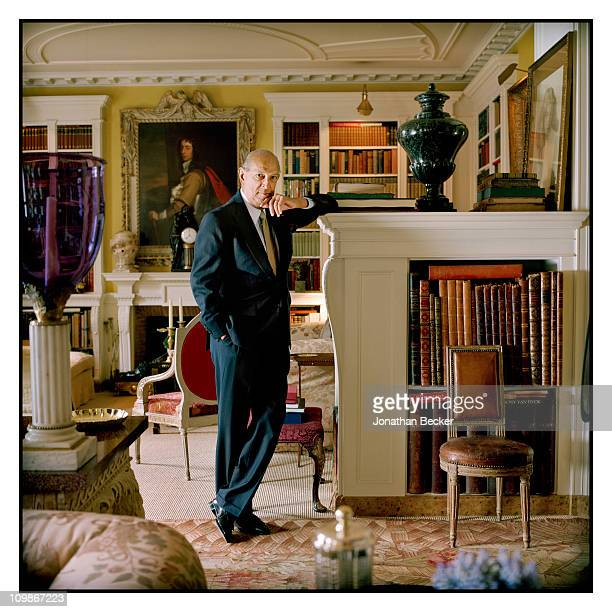 Fashion designer Oscar de la Renta is photographed at home for Vanity Fair Spain on May 7 2009 in New York City Published image
